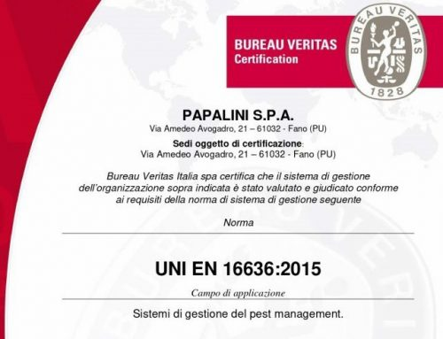 Certificazione UNI EN 16636